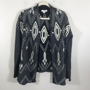 Lucky Bliss tribal Aztec cardigan open front small